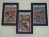 """All Triple Graded Comic Book Frames Can Be Hung in a  """"Step-UP"""" or """"Step-Down""""  Configuration"""