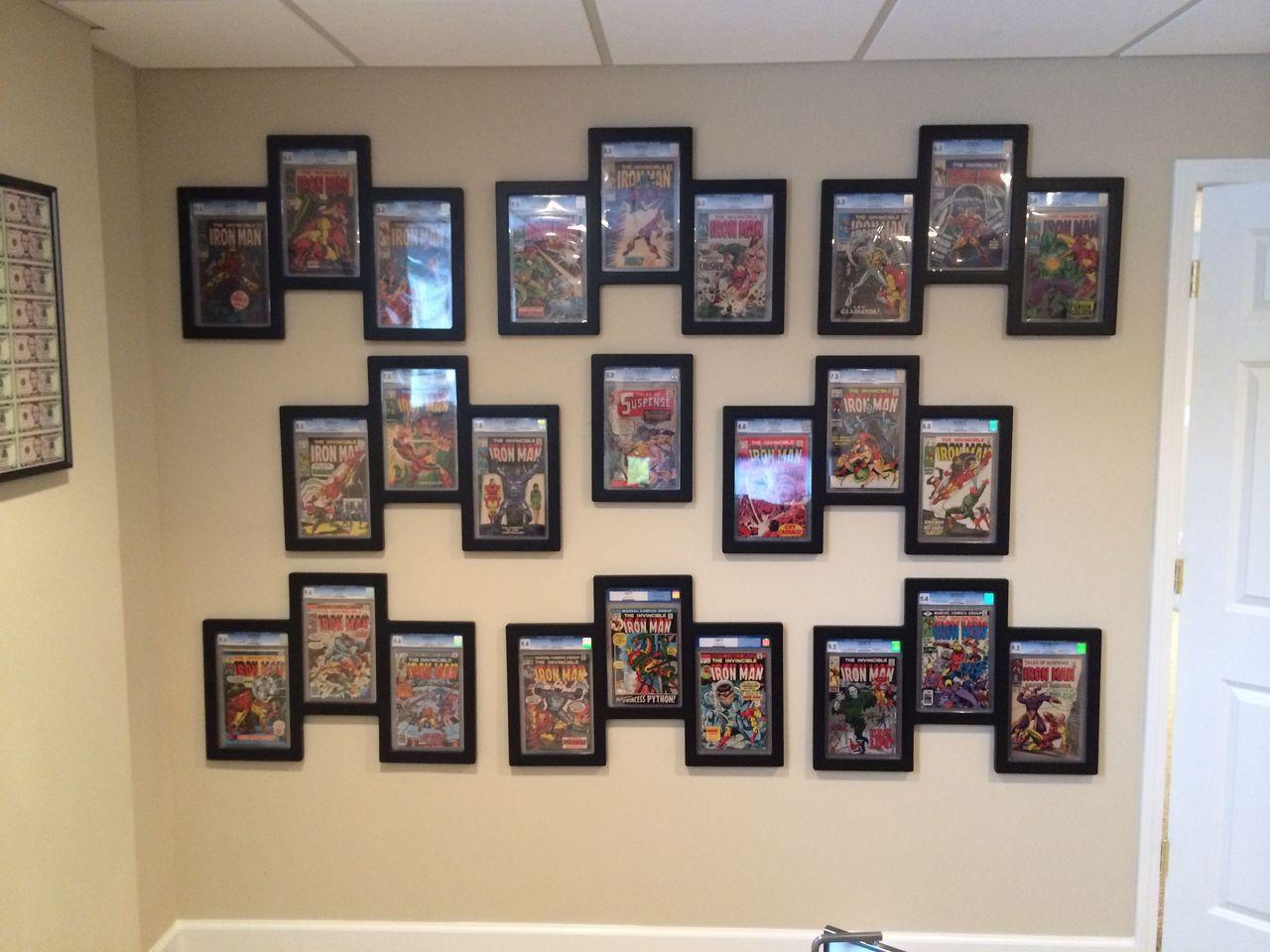 Triple Graded Comic Book Frame Wall Display