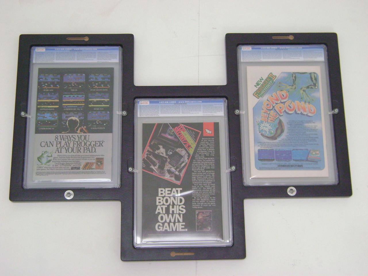 Triple Graded Comic Book Frame Rear Load Design