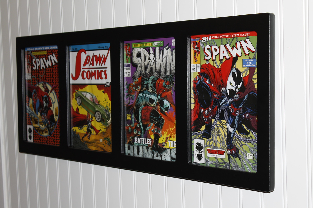 Inline4 Comic Frame, One Solid Wood Frame for Your Four Favorite Comics
