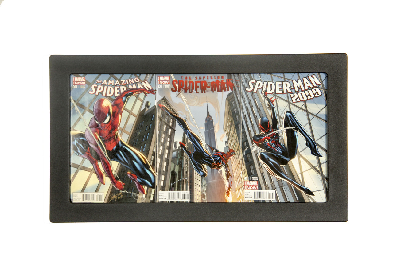 Three Book Connecting Cover Comic Frame Shows Connecting Cover Artwork the Way it Should Be Seen!