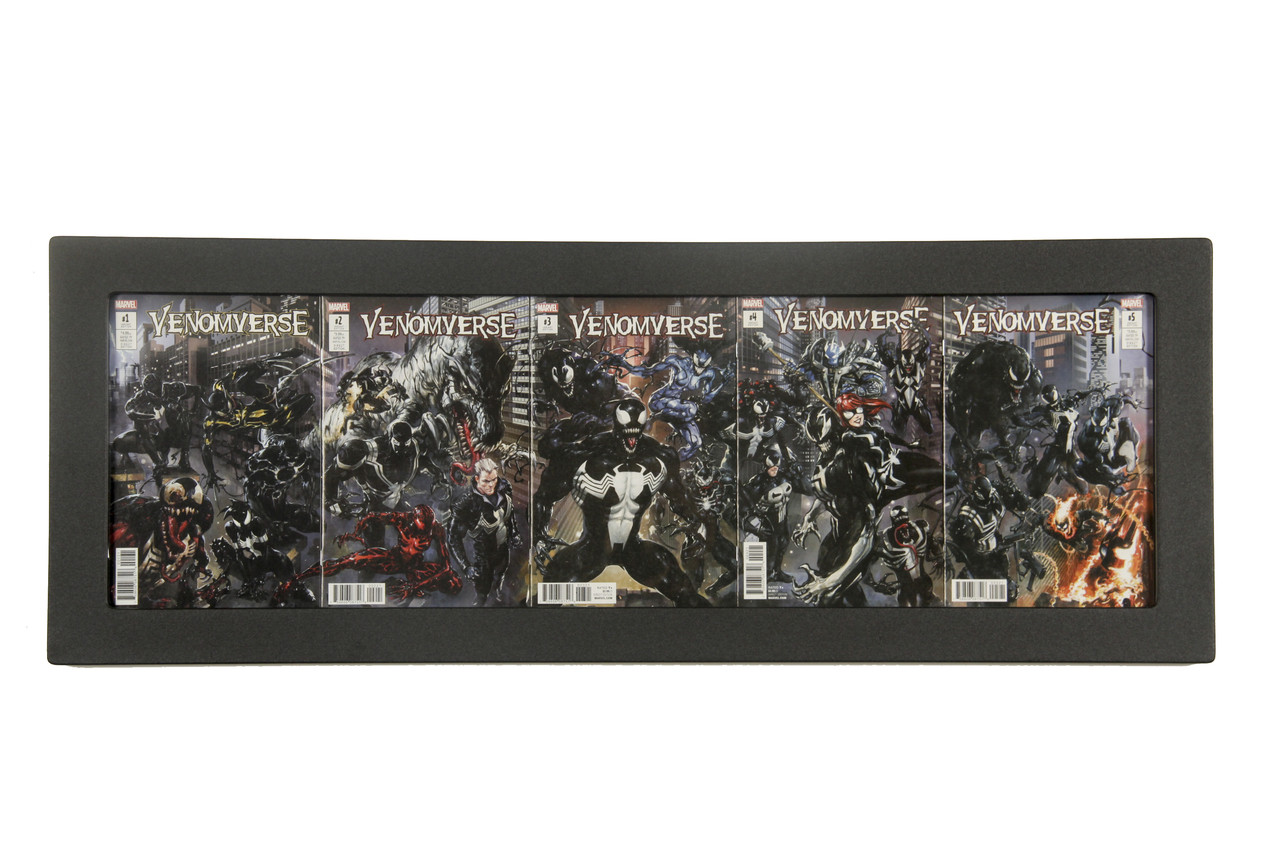 5Book Connecting Cover Comic Book Frame Displays Five Comic Books with Connecting Cover Art