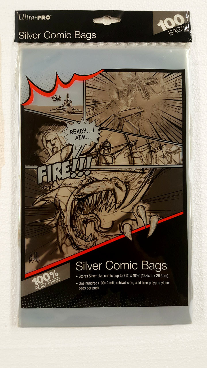 Ultra Pro Comic Book Sleeves, Silver Age size comic books. Pack of 100.   The Collectors Resource