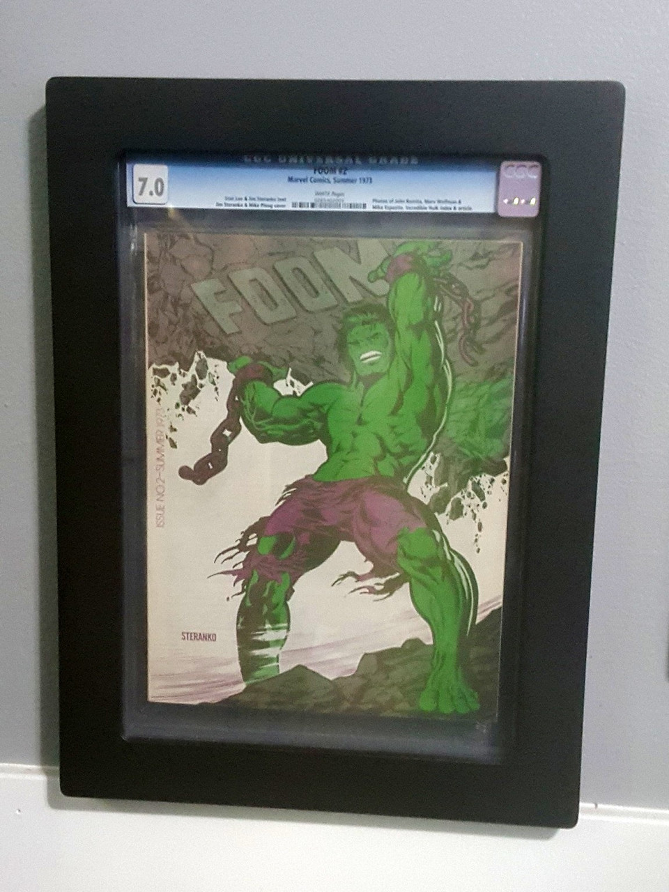 Graded Magazine Frame. Foom Comic Book