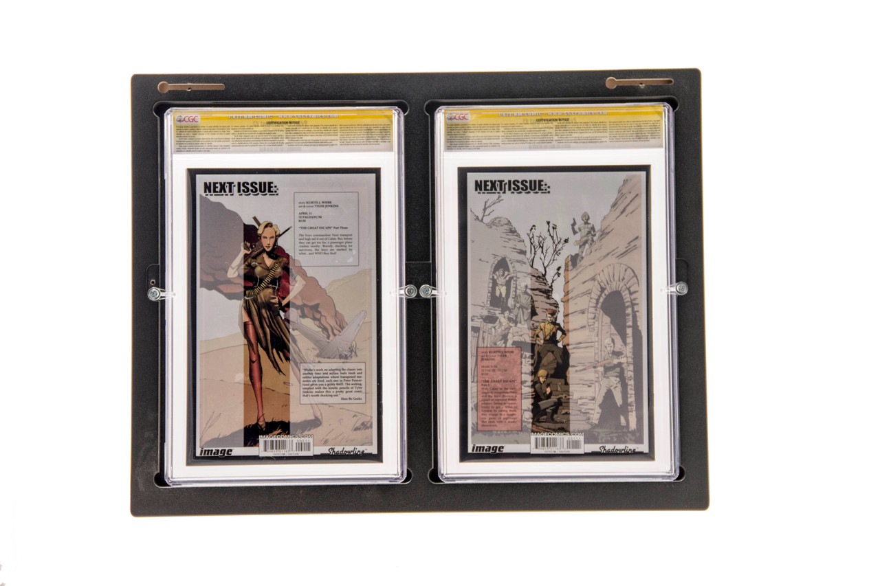 Inline2 Graded Comic Book frame Rear Load Design Makes Switching out Your Comics Easy