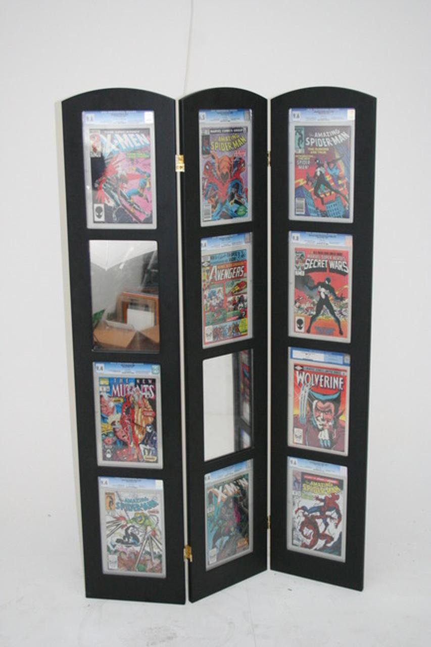 Tri-Fold Graded Comic Book Display UV Protected