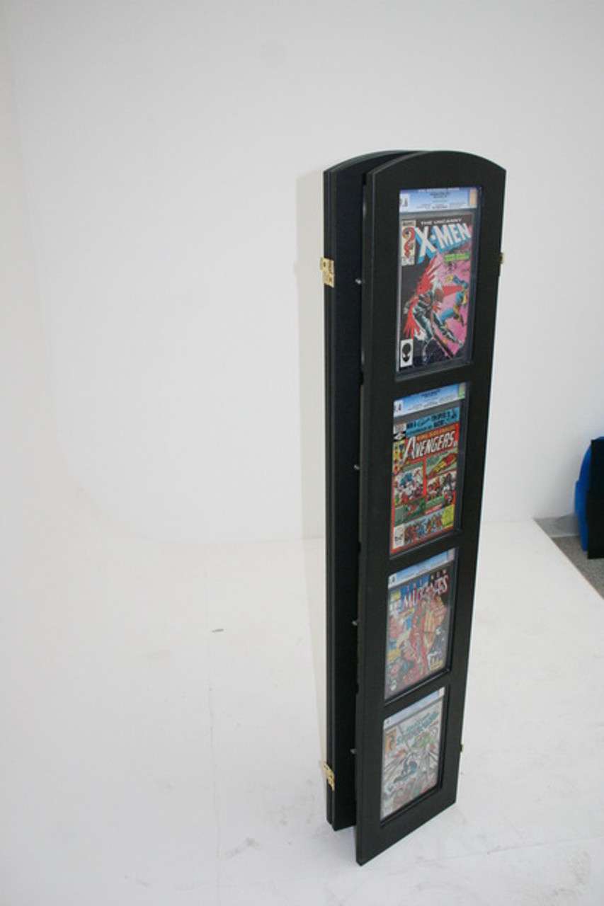 Tri-Fold Graded Comic Book Display folds up for Easy Transport