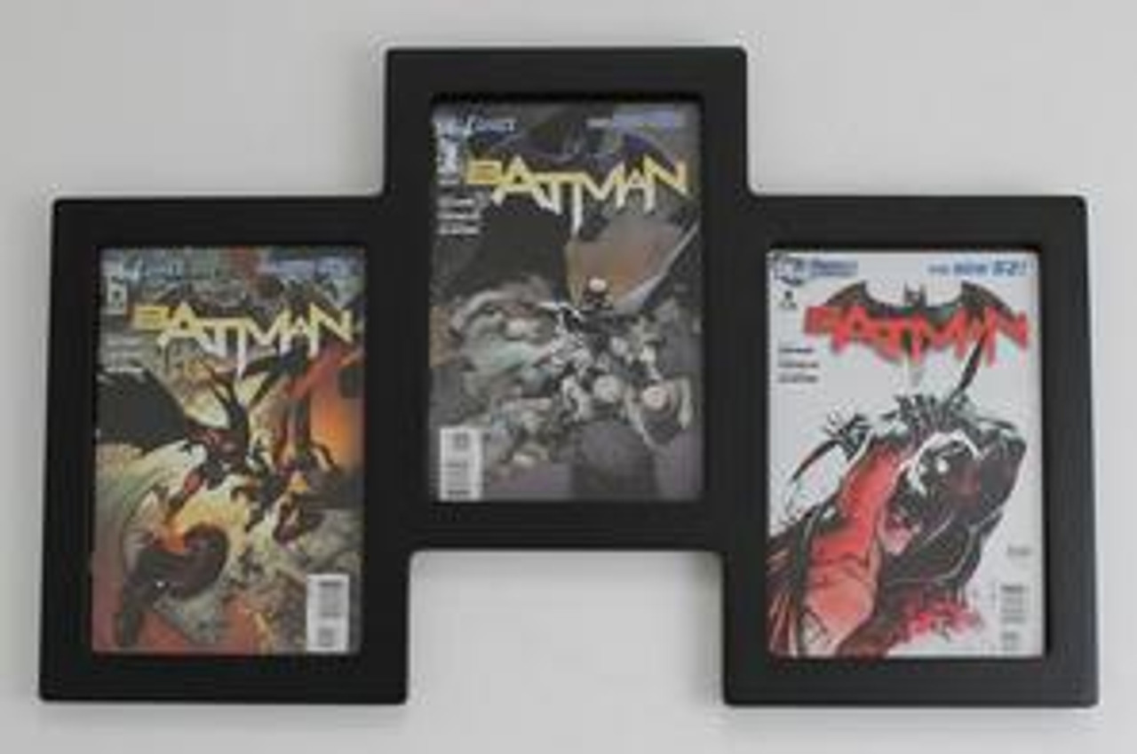 "Triple Comic Book Frame 99% UV Safe Museum Edition, Can be Hung in a ""Step-Up"" or ""Step-Down"" Configuaration"