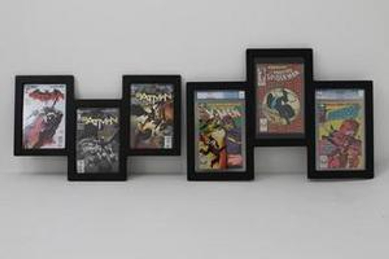 Triple Comic Book Display and Triple Graded Comic Book Frame