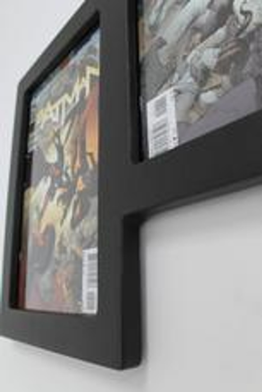Triple Comic Book Frame 99% UV Safe Museum Edition, Solid One-Piece Wood Frame