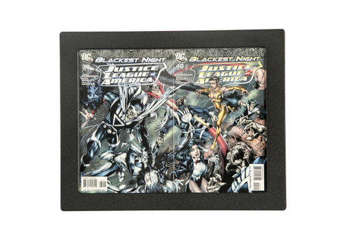 Two Book Connecting Cover Comic Book frame by The Collectors Resource. 98% UV Safe Museum Edition