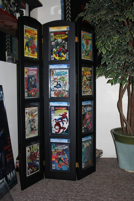 Tri-Fold Graded Comic Book Display, Holds 12 Graded Comic Books. The Collectors Resource