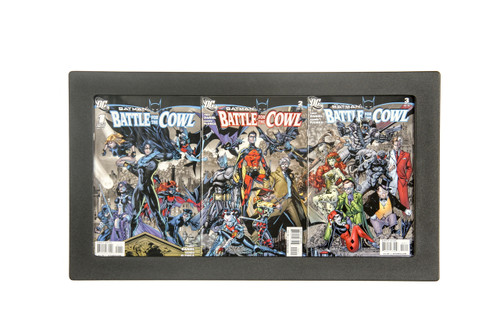 Three Book Connecting Cover Comic Book Frame Displays Three Comic Book Side by Side with N Dividers
