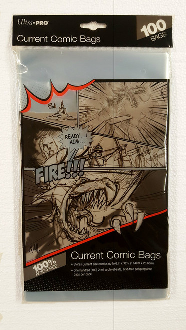 Ultra Pro Comic Book Sleeves, current size comic books. Pack of 100