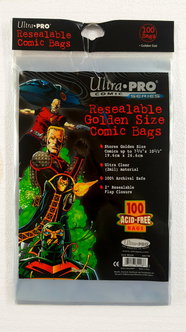 Ultra Pro Resealable Comic Book Sleeves, Golden Age size comic books. Pack of 100.   The Collectors Resource