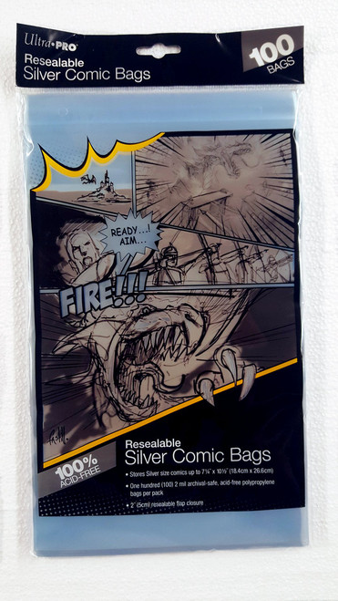 """Clear Ultra PRO Manga Size 6 X 7-5//8/"""" Comic Bags 100 Count Pack Small"""