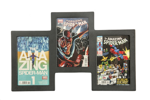 Triple Book Frame 99% UV Safe Museum Edition, Our Best Selling Design Comic Frame
