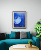 """""""Hawaii Blue Moon"""", is the original painting done in blue hues, whites and grays."""