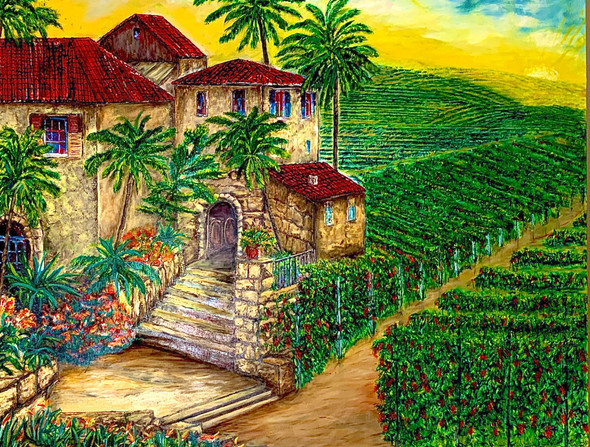 """Tuscany Winery & Vineyard"" takes one through Chianti valley the ideal getaway for those wanting to experience medieval villages and romantic vineyards tucked away amongst rolling hills."