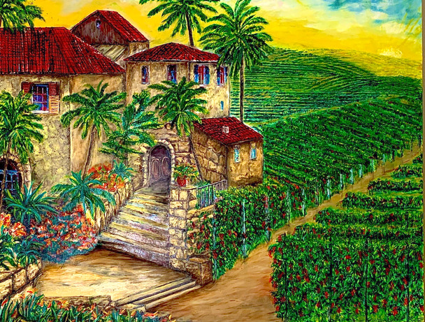 """""""Tuscany Winery & Vineyard"""" takes one through Chianti valley the ideal getaway for those wanting to experience medieval villages and romantic vineyards tucked away amongst rolling hills."""