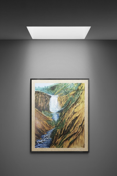 """""""Yellowstone Falls and Canyon"""" tells us a tale of a boy who went fishing in Yellowstone Canyon above the falls."""