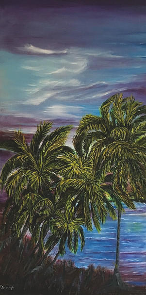 """""""In Remembrance of Kapoho Tranquility"""", is in remembrance of Kapoho and Vacation land, Hawaii beach properties that was destroyed by the lava flow of Kilauea volcano."""