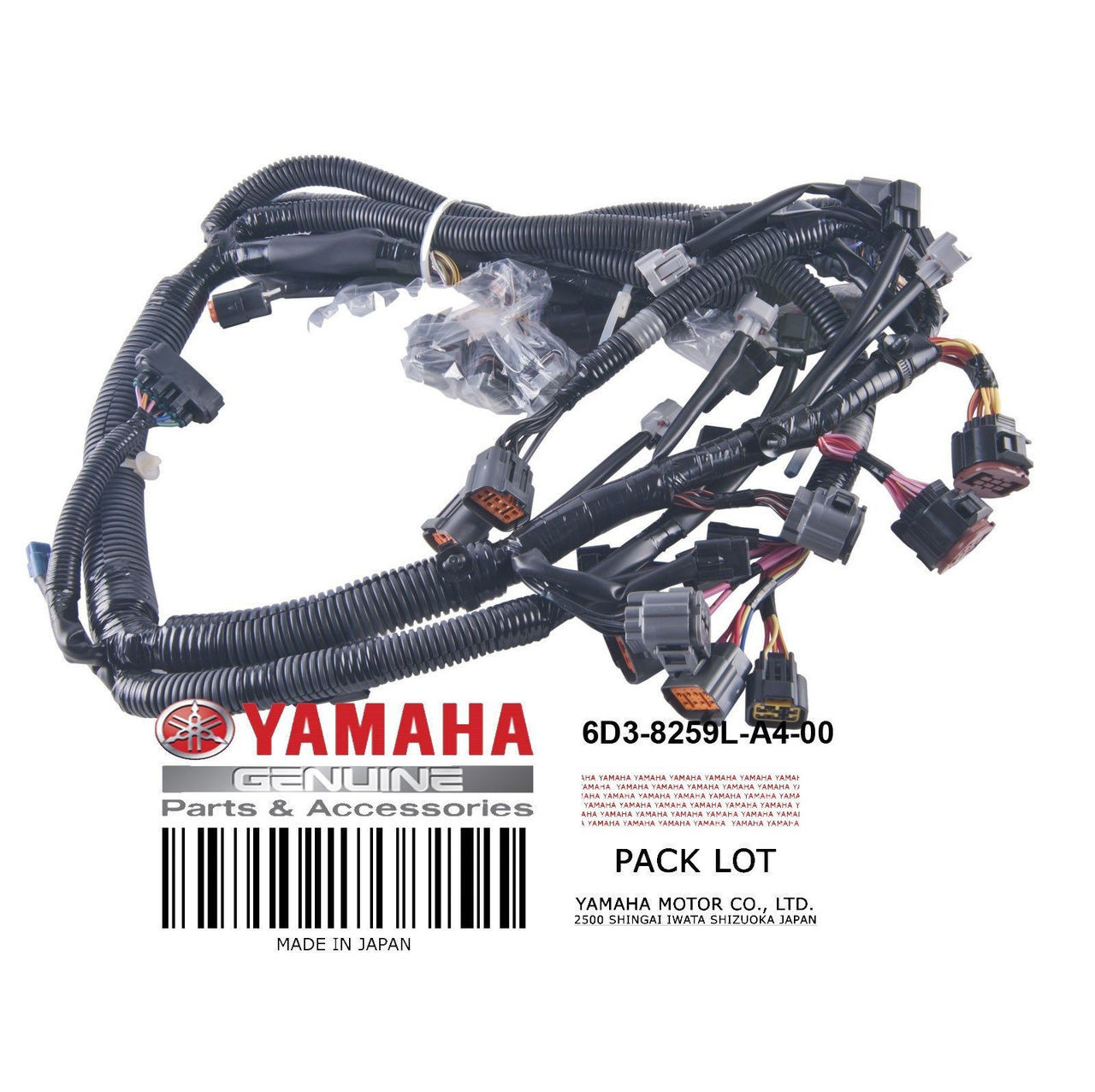 YAMAHA OEM Wire Harness Assembly 6D3-8259L-A4-00 2005-2009 VX Deluxe Sport  Cruiser PWC | Pwc Wiring Harness |  | PWC Parts