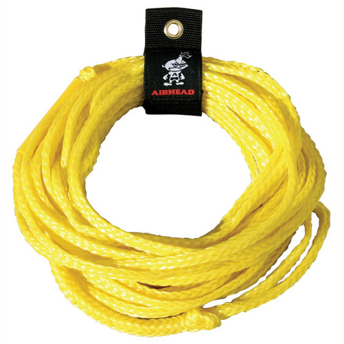 AIRHEAD 50' Single 1 One Rider Tube Tow Rope Yellow AHTR-50