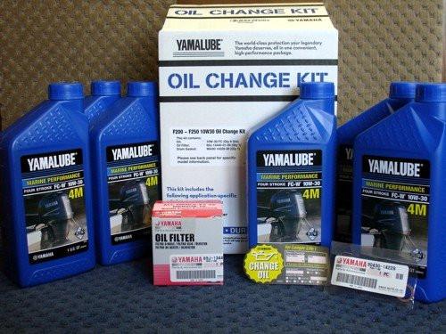 Yamalube OEM Yamaha Outboard F200~F250 10W30 Oil Change Kit LUB-MRNLG-KT-10 (LUB-MRNLG-KT-10)