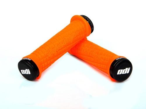 ODI TROY LEE Designs Orange Lock-On PWC Grips BLACK Lock SEA DOO YAMAHA KAWASAKI