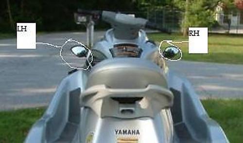 Yamaha WaveRunner VX Mirror Right Hand Side RH Black VX110 Deluxe Sport Cruiser F1S-U596C-10-00