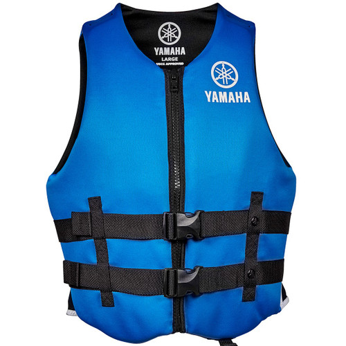 2016 Yamaha Value Neoprene 2-Buckle PFD Blue Front View