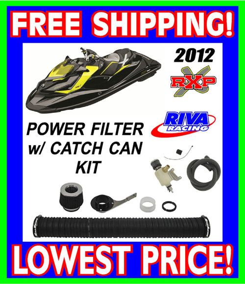 SeaDoo 2012+ RXP-X 260HP RIVA Power Filter w/ Catch Can Kit ADD 1-2+MPH RS13110 / RS19050-BCC
