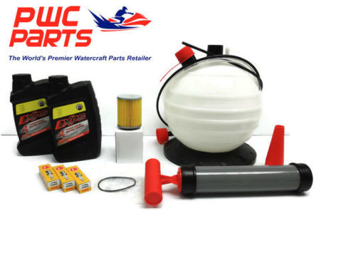 SeaDoo SPARK BRP Oil Change Kit ACE 900 SBT Filter O-Ring CR8EB Spark Plugs Pump