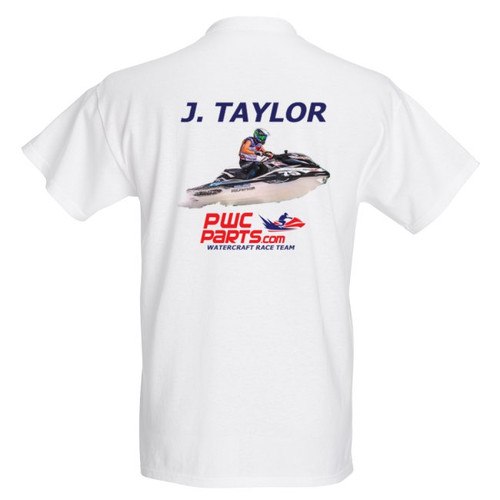 JUSTIN TAYLOR 2018 PWC PARTS WATERCRAFT RACE TEAM OFFICIAL PIT SHIRT