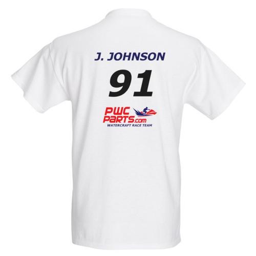 JOE JOHNSON 2018 PWC PARTS WATERCRAFT RACE TEAM OFFICIAL PIT SHIRT