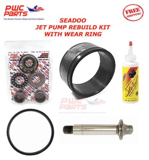 SEADOO Jet Pump Rebuild Kit Wear Ring Impeller Shaft Seal Oil 951 XP GTX RX DI