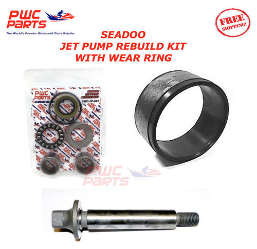 SeaDoo Jet Pump Rebuild Kit Wear Ring Impeller Shaft SP SPI XP SPX GTX 720