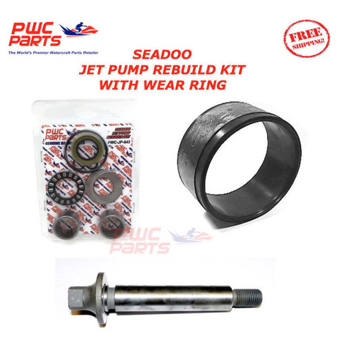 SEADOO Jet Pump Rebuild Kit Wear Ring Impeller Shaft 951 XP GTX RX DI 947