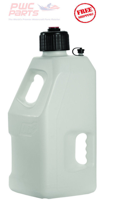 LC2 Fuel Jug w/ Lid Cap Container Fly Racing WHITE ATV MX WaveRunner 5 Gallon 30-1190