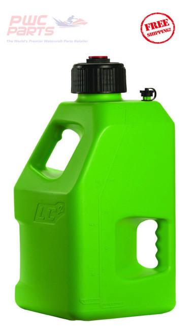 LC2 Fuel Jug w/ Lid Cap Container Fly Racing GREEN ATV MX PWC 5 Gallon 30-1192