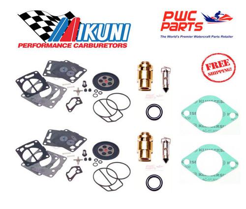 SEADOO Mikuni DUAL Carb Rebuild Kit 2000-2002 LRV RX RXX Needle Seat Gasket 951