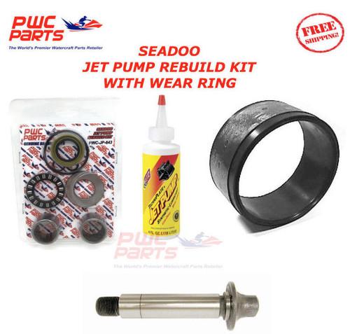 SEADOO Jet Pump Rebuild Kit Wear Ring Impeller Shaft Seal Oil 1998 GTX Limited