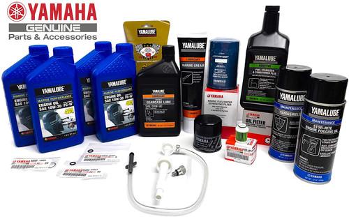 YAMAHA OEM 2006+ F75 F90 F115 F90B VF90 Winterization Kit Oil Change Fuel Stabilizer Gear Lube Maintenance Pump Fuel/Water Separator