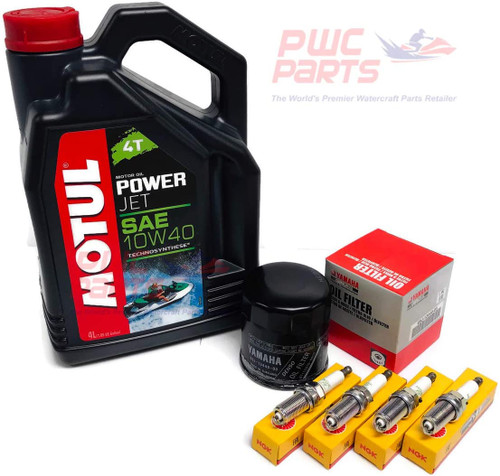 YAMAHA MOTUL 1.8L HO SHO Oil Change Kit w/Filter FX-HO VXR VXS FZ-SHO FZR FZS 69J-13440-03-00 NGK Spark Plugs LFR6A Maintenance Kit