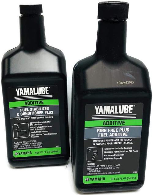 SENECA Marine Yamaha Yamalube Boat & Outboard Fuel Treatment Combo Kit - 1 - ACC-RNGFR-PL-32 Ring Free Plus Fuel Additive & 1- ACC-FSTAB-PL-32 Fuel Stabilizer Plus