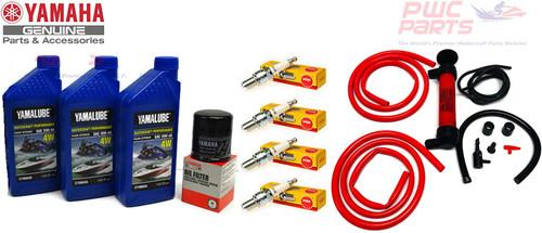 YAMAHA 2005-2015 VX110 VX Deluxe Cruiser Sport 110 V1 Oil Change Maintenance Kit w/NGK Spark Plugs & Deluxe Oil Fluid Extractor Pump LUB-WTRCG-KT-00