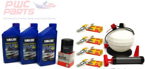 YAMAHA 2005-2015 VX110 VX Deluxe Cruiser Sport 110 V1 Oil Change Maintenance Kit w/NGK Spark Plugs & 6L Oil Fluid Extractor Pump LUB-WTRCG-KT-00