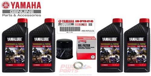 YAMAHA Sport II Motorcycle AP SAE 10W40 Oil Change Kit 2007-2013 YZF-R1 / 2006-2013 YZF-R6 LUB-SPTCG-KT-15