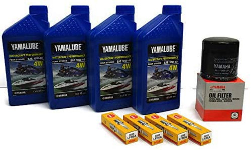 YAMAHA 1.8L HO SHO Oil Change Kit w/Filter FX-HO VXR VXS FZ-SHO FZR FZS 69J-13440-03-00 NGK Spark Plugs Maintenance Kit